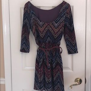 Dresses & Skirts - Patterned dress with belt